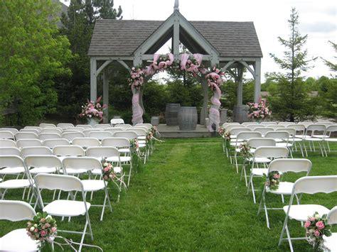 outdoor ceremony  bellamere winery wedding ideas
