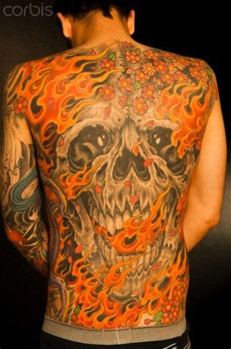 images  flaming skull tattoos  pinterest