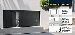 Porte De Garage Automatique : porte de garage sectionnelle avec portillon iso45 ~ Dailycaller-alerts.com Idées de Décoration