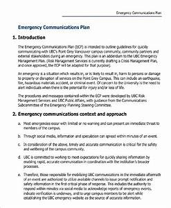 10 communication plan examples sample templates With emergency communications plan template