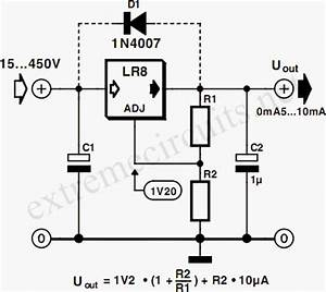 gt circuits gt high input voltage linear regulator l27407 With led 1 connected to pin 2 led 2 to pin 3 led 3 to pin 4 the r1 r2 r3