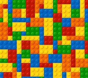 Lego Page Border Template Colored lego background vector ...
