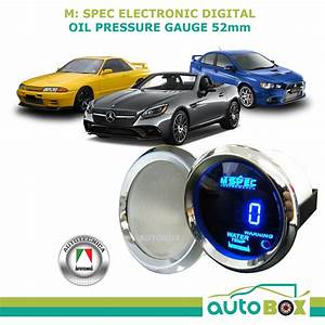 Oil Pressure Gauge 52mm Electronic Digital M Spec Gauge By