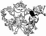 Coloring Nickelodeon 90s Cartoon Printable Nickalodeon Cartoons Network Nicktoons Sheets Birijus Elegant Library Clipart sketch template
