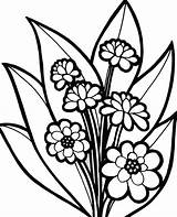 Coloring Flower Plants Blossom Pages Flowers Blooming Kidsplaycolor Colouring Bouquet Gemerkt Von sketch template