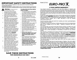 Important Safety Instructions  Save These Instructions  1