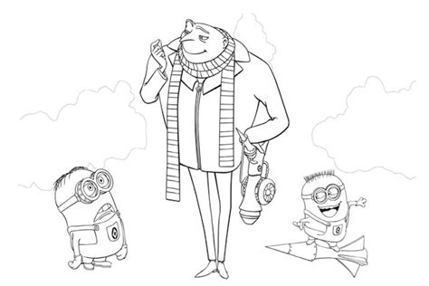 despicable   minions  printable coloring pages