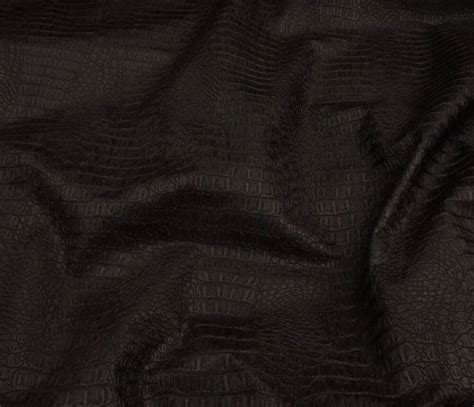Upholstery Faux Leather by Vinyl Faux Leather Brown Gator Upholstery Fabric By The