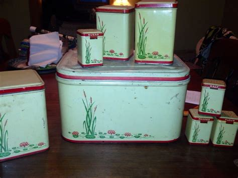 Kitchen Canister Sets Vintage by Antique Tin Kitchen Canister Set Vintage Things