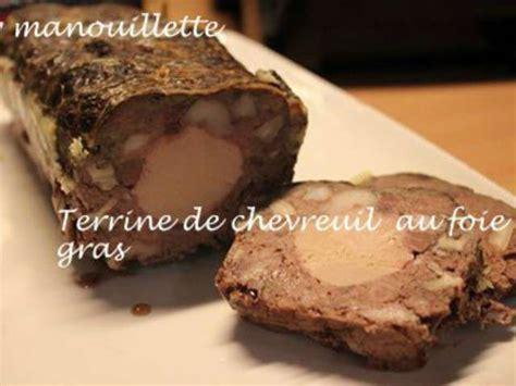 recettes de chevreuil et foie gras