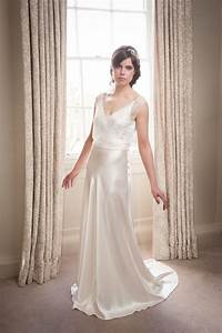 elegant couture silk satin bias cut wedding gown With bias cut wedding dress