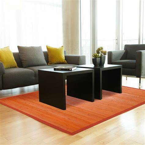 tapis en bambou pas cher tapis en bambou orange pas cher 120x180 monbeautapis