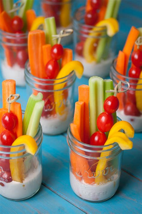 easy veggie party cups
