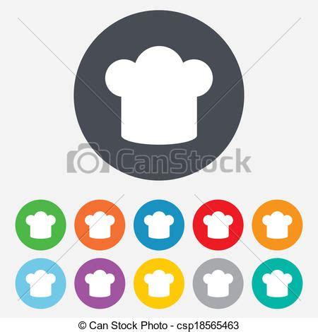 icone cuisine illustration de chef cuistot chapeau signe icône cuisine symbole csp18565463