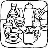 Coloring Drinks Pages Drink Printable Getcolorings Colorings sketch template