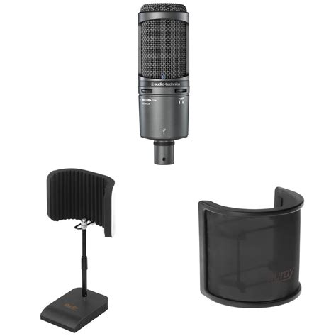 audio technica at2020 usb desktop pack kit b h photo