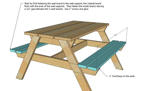 white preschool picnic table diy projects