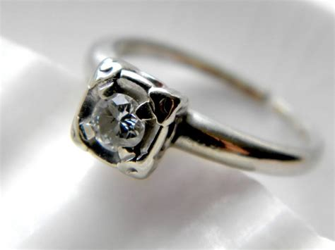 sale see shop announcement for code deco 14k white gold ring alternative