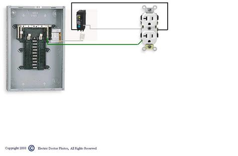 Gfi Breaker Diagram by I A Gfci Recepticle At The End Of The Wiring Run To