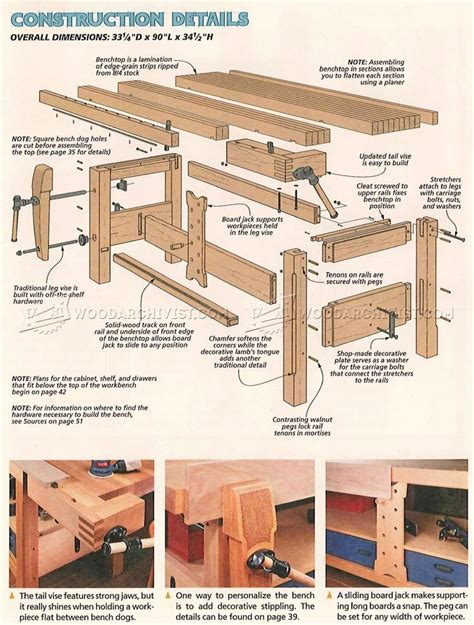 Workbench Stool Plans 2709 Shaker Workbench Plans Workshop Solutions