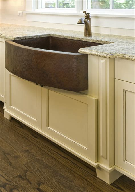 farmer kitchen sinks hammered copper farm sink craftsman chicago by great 3684