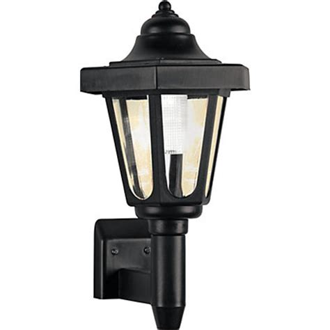 black solar outdoor wall light