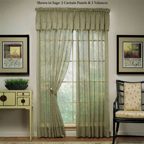 Sheer Window Treatments by Sapphire Sheer Voile Window Treatment