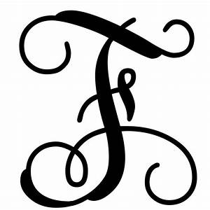 vine monogram letter f initial initials monograms and With letter f monogram