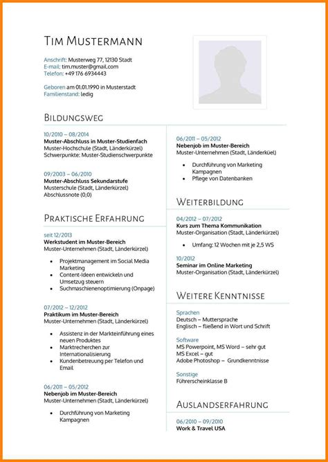 Lebenslauf Muster by 14 Lebenslauf Arzt Muster Veerlebaetens
