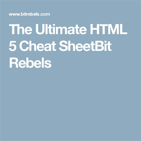 ultimate html  cheat sheet  images html