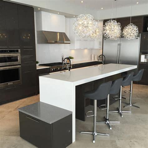 comptoir ilot cuisine comptoir de granit quartz et marbre nuance design laval
