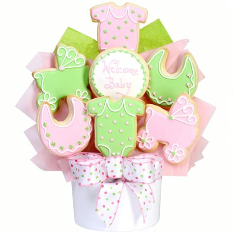 cookie bouquets it 39 s a girl baby cookie bouquet gourmet cookie bouquets
