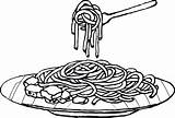 Spaghetti Coloring Pasta Drawing Clipart Sheet Noodles Colouring Cartoons Noodle Plate Children Printables Drawings Sketch Cartoon Clip Clipartix Sheets Coloringpagesfortoddlers sketch template