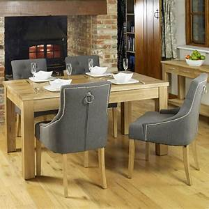Mobel Solid Oak Furniture Dining Table And Four Luxury