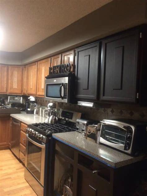 kitchen makeover  dark chocolate milk paint general