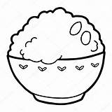 Rice Illustration Vector Background Bowl Drawing Colouring Pages Coloring Isolated Fried Template Sketch Getdrawings Depositphotos Chopsticks sketch template