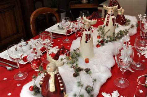 quelques idees de decorations de tables pour noel