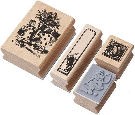 alice  wonderland vintage rubber stamps scrapbook