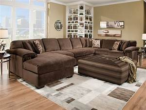 sectional sofa with large ottoman thesofa With sectional couch with large ottoman