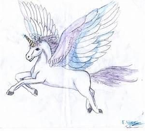 How to draw flying unicorn