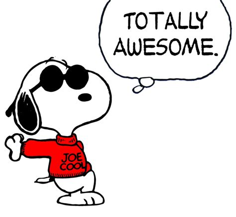 Image result for totally awesome snoopy