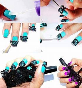 How to make nail art net step by step DIY instructions