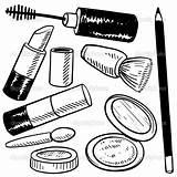 Coloring Makeup sketch template