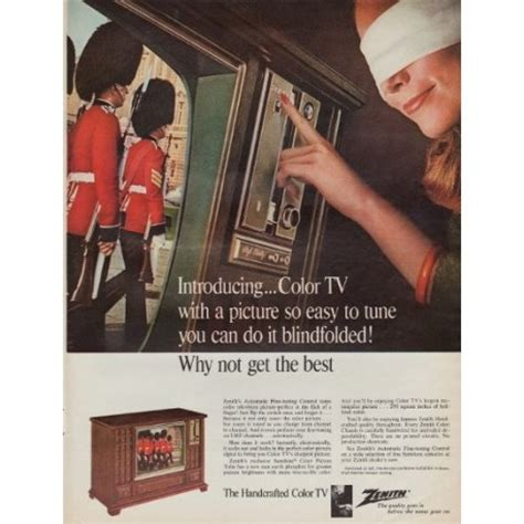 zenith color tv ad
