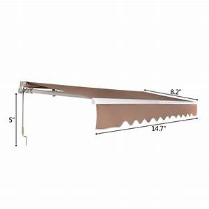 Retractable Awning Manual Outdoor Patio Canopy Sun Shade