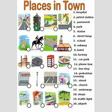 Places In Town Matching Activity