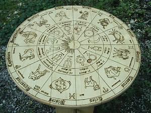 Astrology Wheel Zodiac Tarot Reading Table Unique