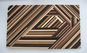 Geometric Wood Wall Art Abstract Wood Sculpture Triangles