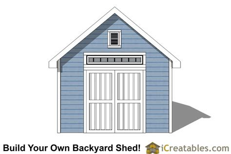 Garden Shed Plans 12x12 by 12x12 Traditional Backyard Shed Plans
