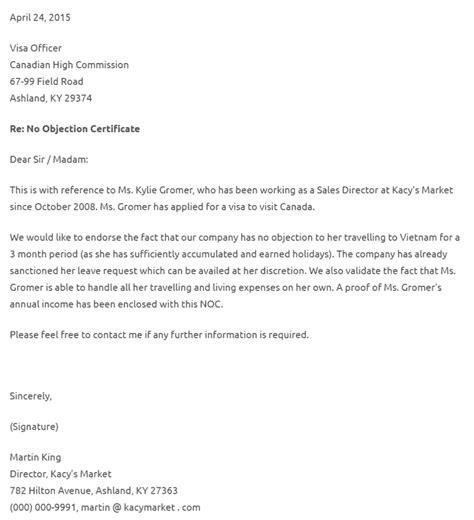 objection certificate  travel sample lifehackedstcom